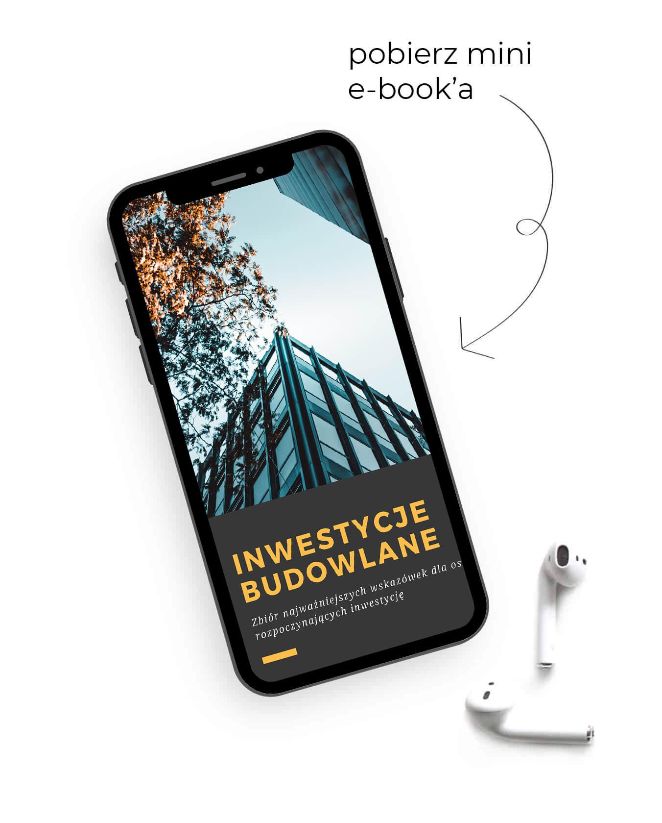 moja okładka mini e-booka wyświetlona na telefonie